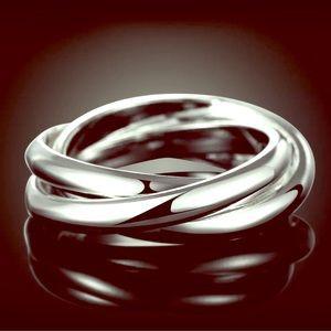 Jewelry - Silver Triple Band Fidget Ring